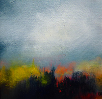 Painting by Amanda Bennett from Frome Art Society featuring a dramatic landscape