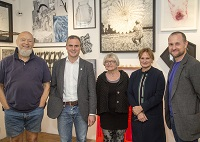 Photograph of the 2018 Art Open judges during the preview