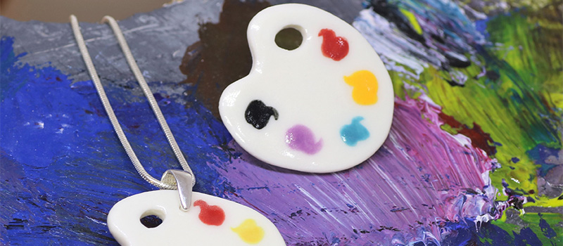 Paint palette design by Fosse Beads