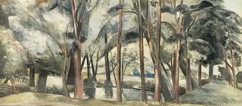 Pond in the Fields by Paul Nash