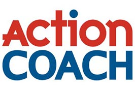 logo featuring the words action coach