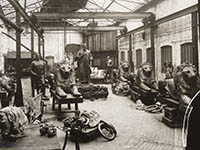 Black and white photograph from J.W. Singer & Sons foundry in Frome taken more than 100 years ago.