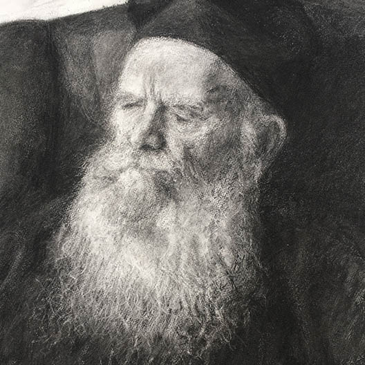 charcoal drawing of his eminence, Archbishop Gregorios