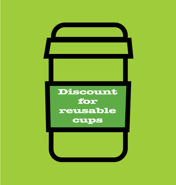 Discount for reusable cups