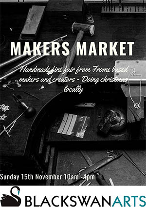 Sunday makers market. Hand made fine fare, from Frome based makers and creators. Doing Christmas locally.