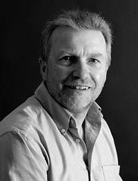 Black and white portrait of Malcolm Lloyd